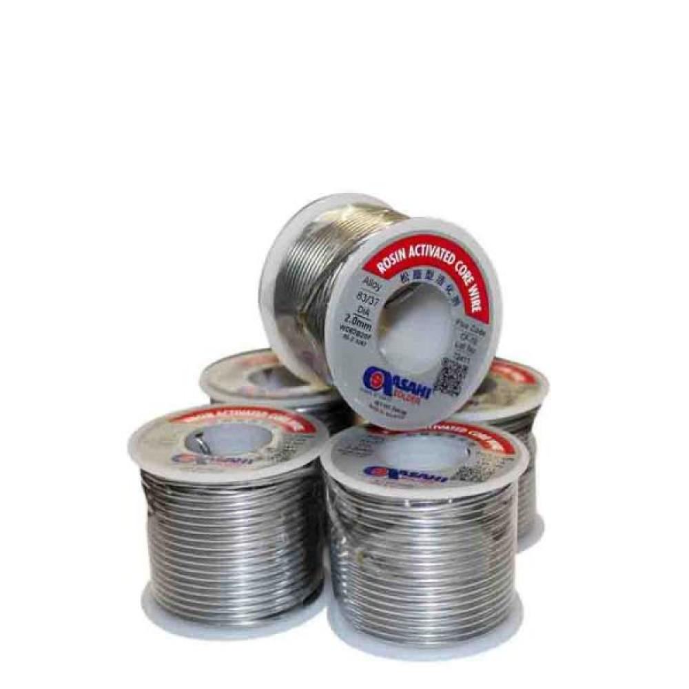 سیم لحیم (قلع) 100 گرمی 0.8mm آساهی اصل سنگاپور