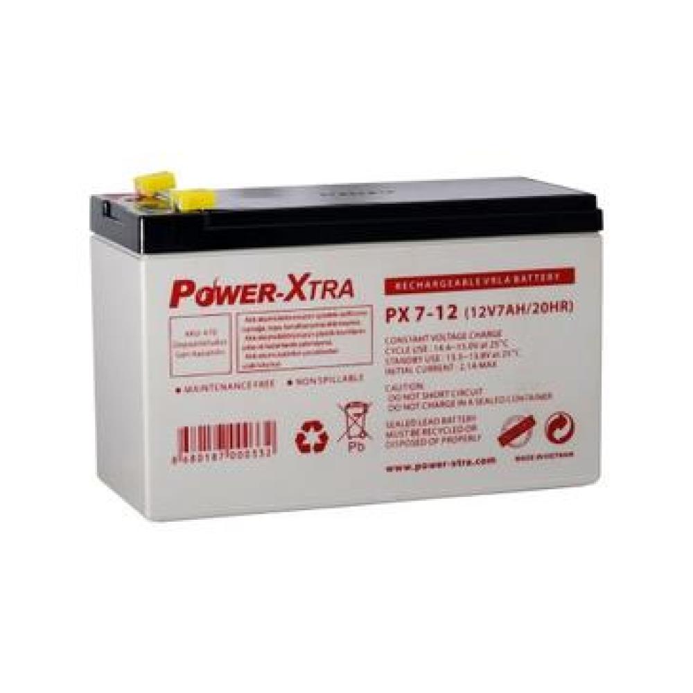 باتری سیلد اسید PowerXtra-12V-7Ah